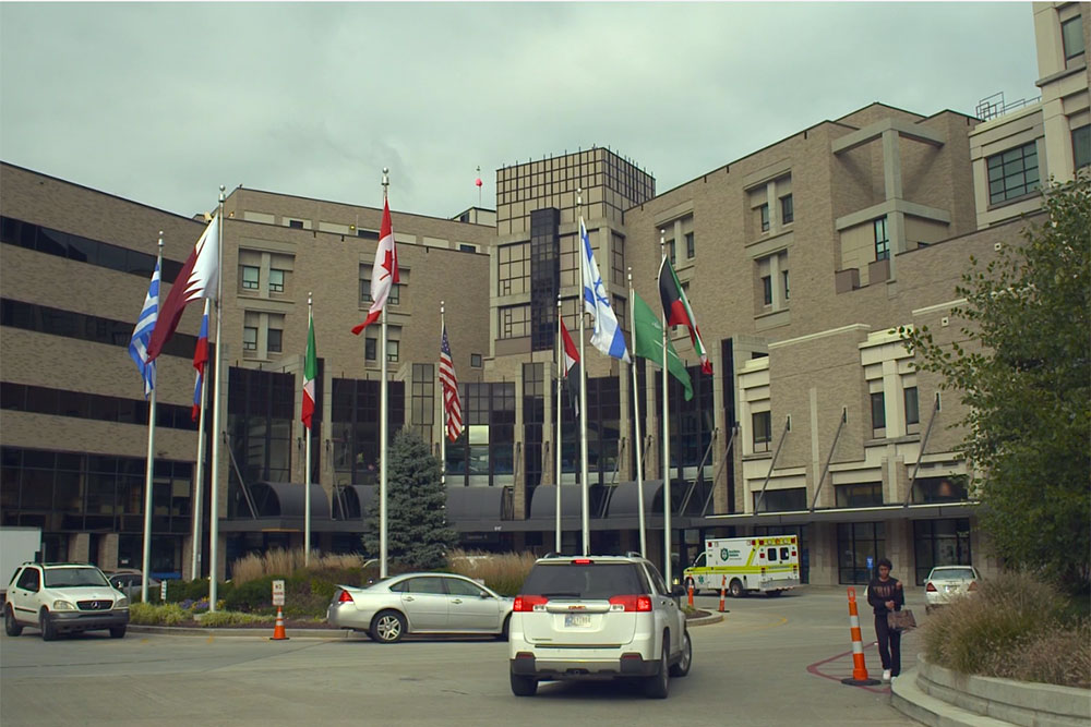 The exterior of the Cincinnati Children's Hospital Medical Center.